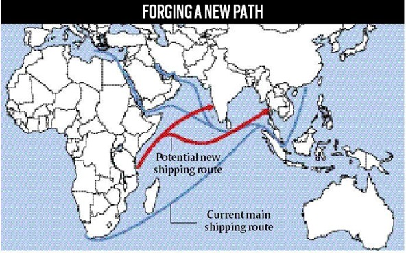 Map Of India And Africa.Asia Africa Growth Corridor Aagc An Initiative Strong Enough To