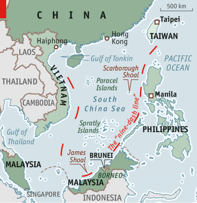 Image result for china, south china sea, nine dash line, pictures